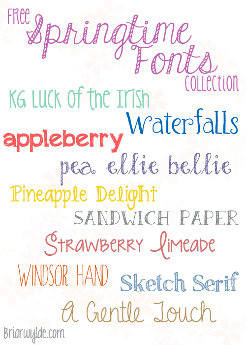 Springtime Free Font Collection
