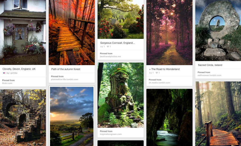Pinterest writing inspiration board